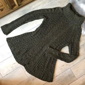 Anthropologie cable knit turtleneck sweater.